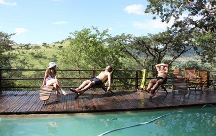 Chilling out at the pool at Three Trees. Picture: Peter Berg-Munch