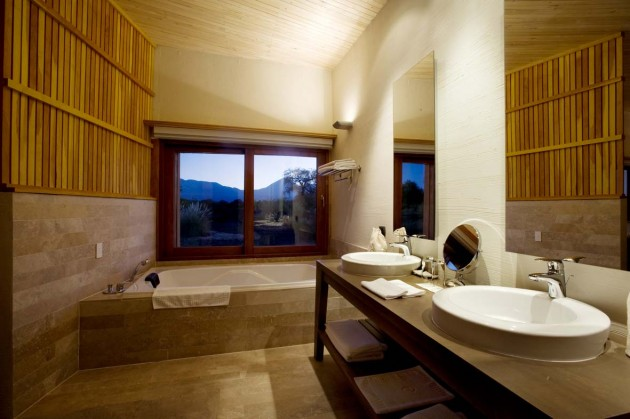 Our generous bathroom at the Hotel Atacama Desert