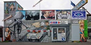 A section of the Berlin wall that is now the world's longest art gallery.