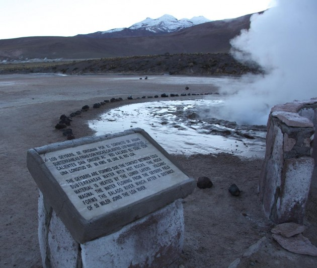 One of the geysers at El Tatio.