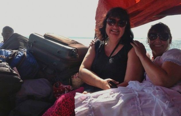 The writer and her companion on their way to Banda Island