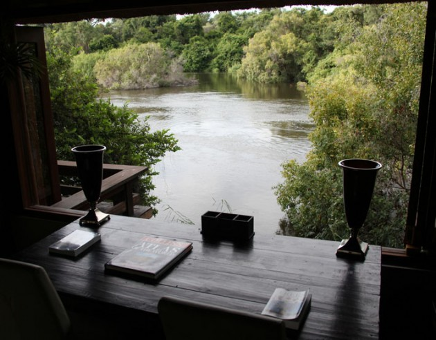 Writing desk with a view at Royal Chundu.