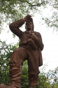 Statue of David Livingstone overlooking the Falls