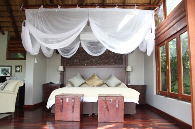 Our bed at Royal Chundu.