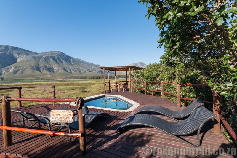 Pool with a view at Mosaic in the Overberg.
