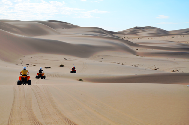 Exploring the Namib Desert on a quad bike. Picture: gero Lilleike