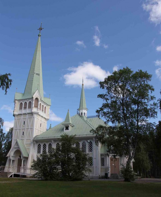 The church in Jokkmokk