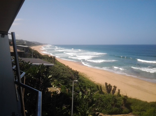 Our balcony overlooking the Indian Ocean