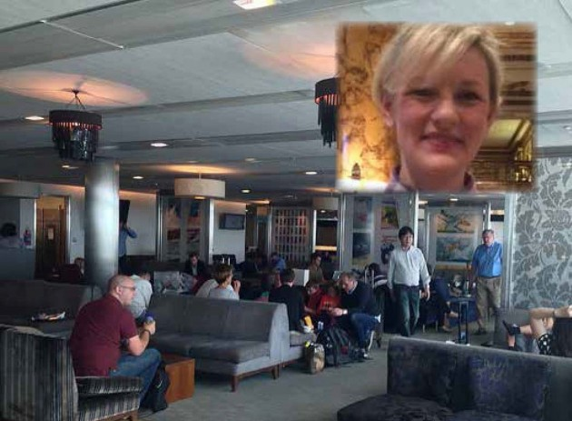 The South Galleries lounge in Heathrow's Terminal 5. Inset: Claire Higgins , PR manager for BA