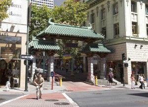 Entrance to China Town in San Francisco.