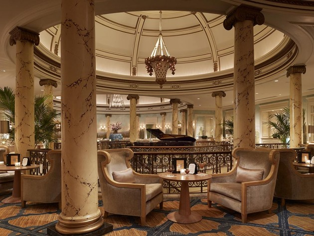 Lobby at the Fairmont Hotel