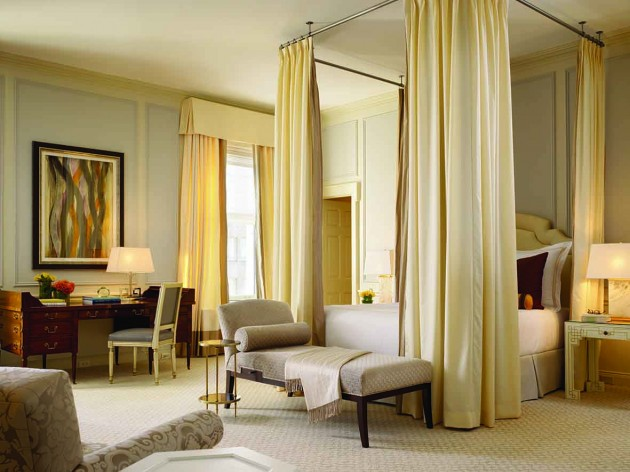 Fairmont bedroom fit for a queen, prince or president.