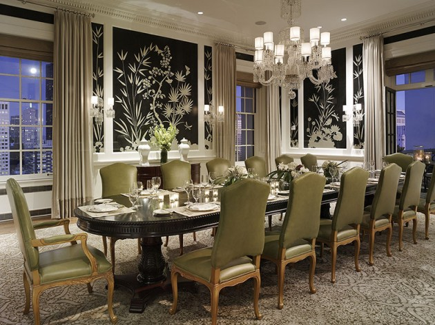 Private dining in the Penthouse suite at the Fairmont Hotel in San Francisco