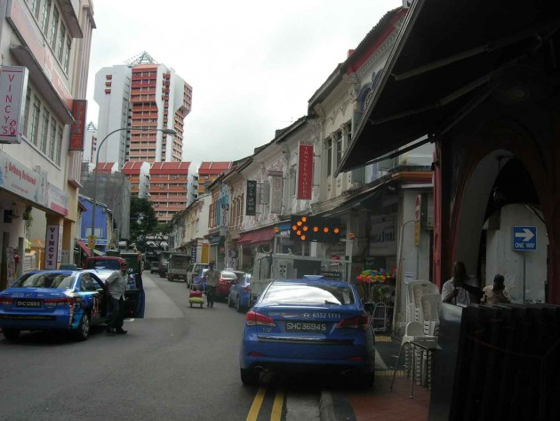 The backstreets of Little India are a riot of colour, period buildings and modern technology.