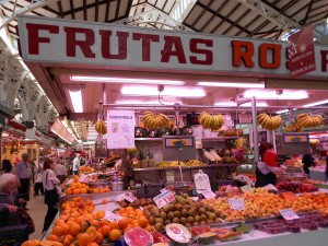 Instead of always eating in expensive restaurants, rather buy your food from the local market, such as this one in Valencia.