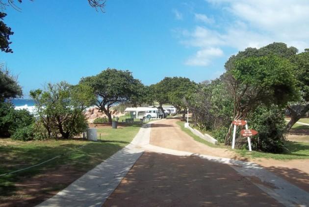 Rocky Bay caravan park.