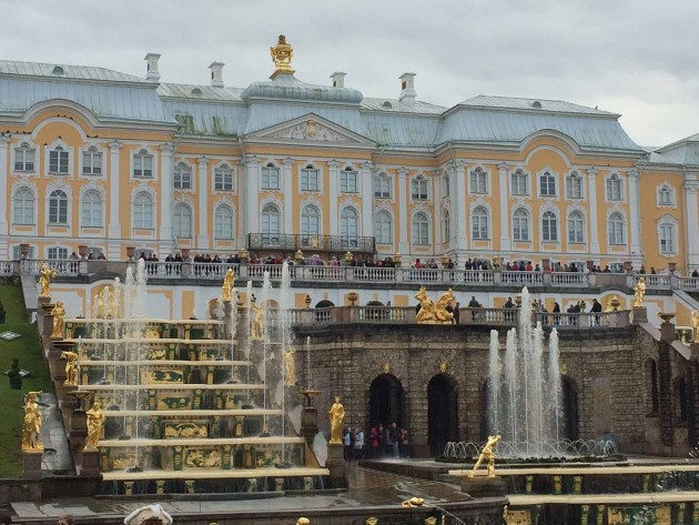 Peterhof's centerpiece, the Grand Cascade – three thundering waterfalls, 67 fountains and 37 golden statues – literally made me gasp with amazement.