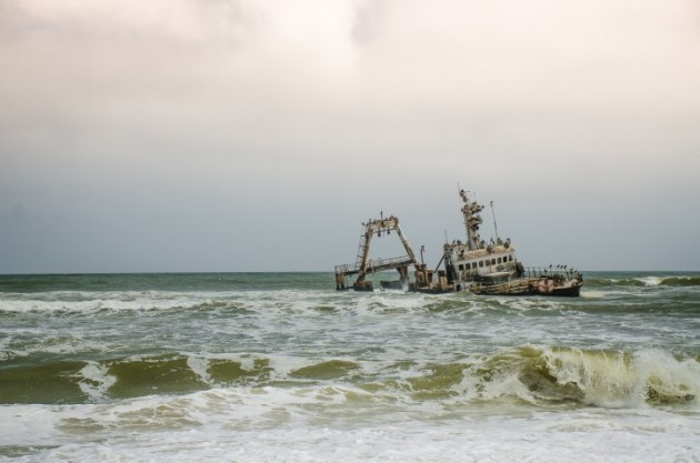 The fishing trawler Zeila, stranded in 2008, is one of many shipwrecks on the Skeleton Coast.