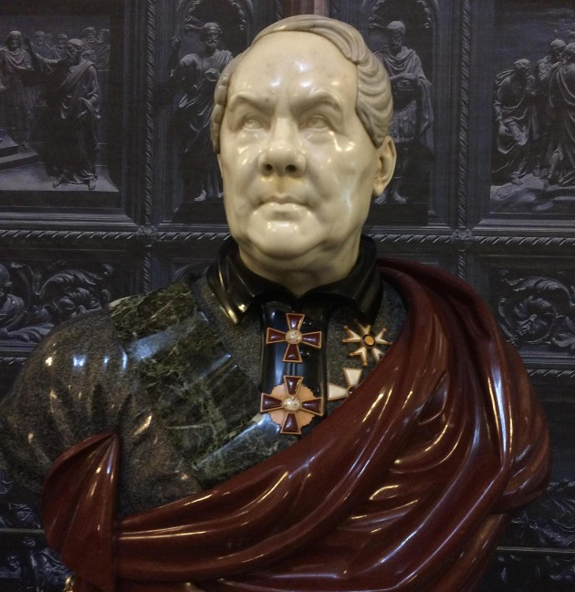 Bust of the French St Isaac's designer Auguste Montferrand.