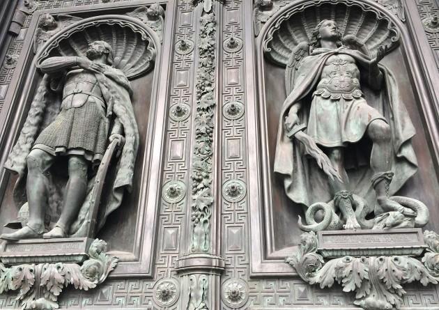Door detail at St Isaacs Cathedral.