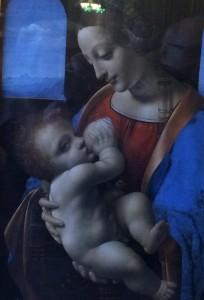 Leonardo Da Vinci's Madonna Litta, which depicts the Virgin Mary breastfeeding the infant Jesus. Picture: Caroline Hurry
