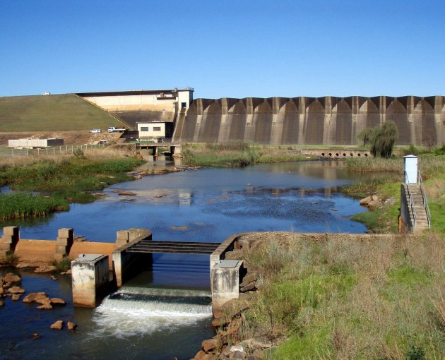 The Midmar Dam on the Umgeni River.