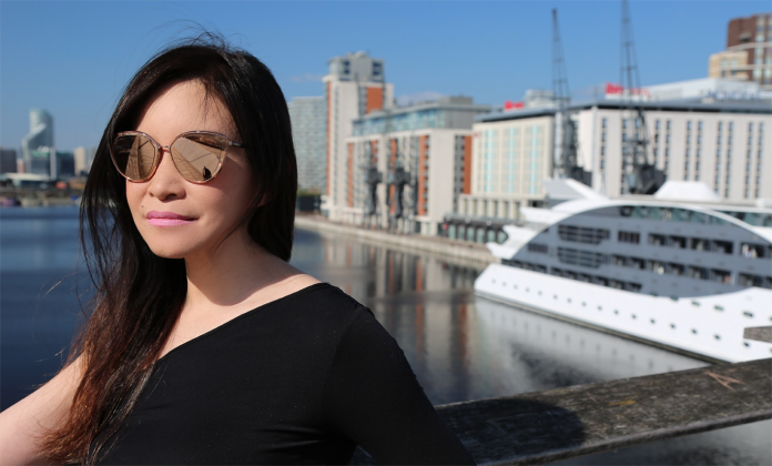 Checking out the blue skies and boats of London. Photo: Neil Elliott at the Sunborn London.)