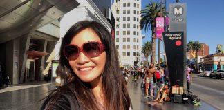 Buzzing through Hollywood & Highland, Los Angeles, CA, USA