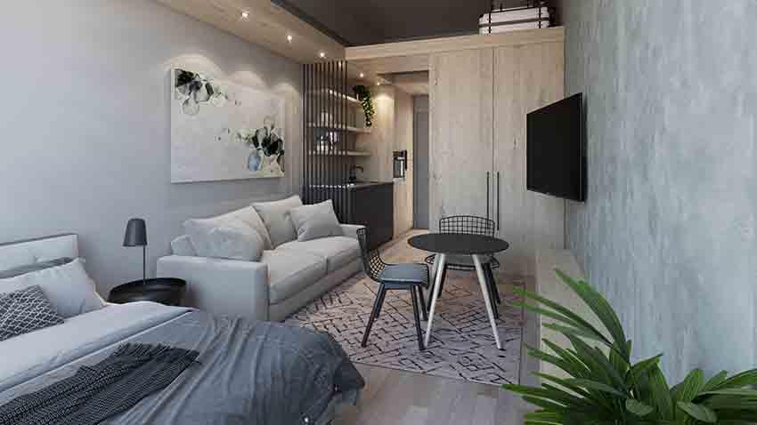 The Harri studio apartment