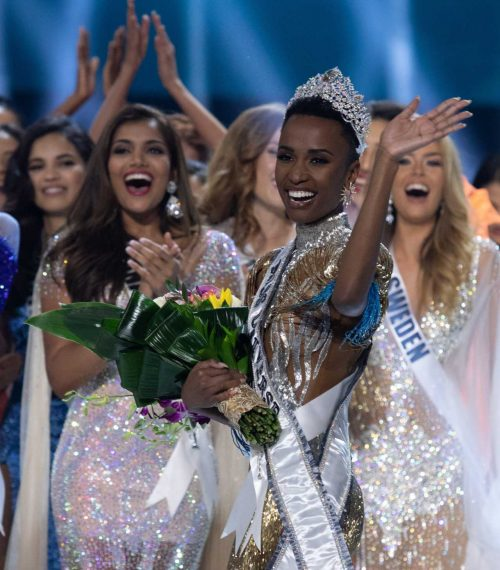 26 year-old Zozibini Tunzi of South Africa, is crowned Miss Universe 2019 in Atlanta, Georgia. Photo: The Miss Universe Organization