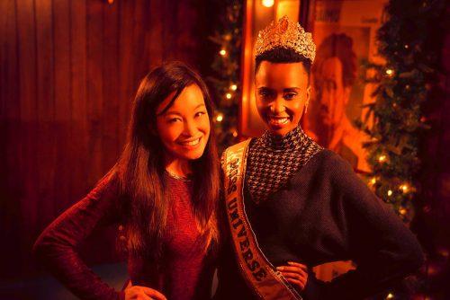 Jen Su and Miss Universe 2019 Zozibini Tunzi in New York.