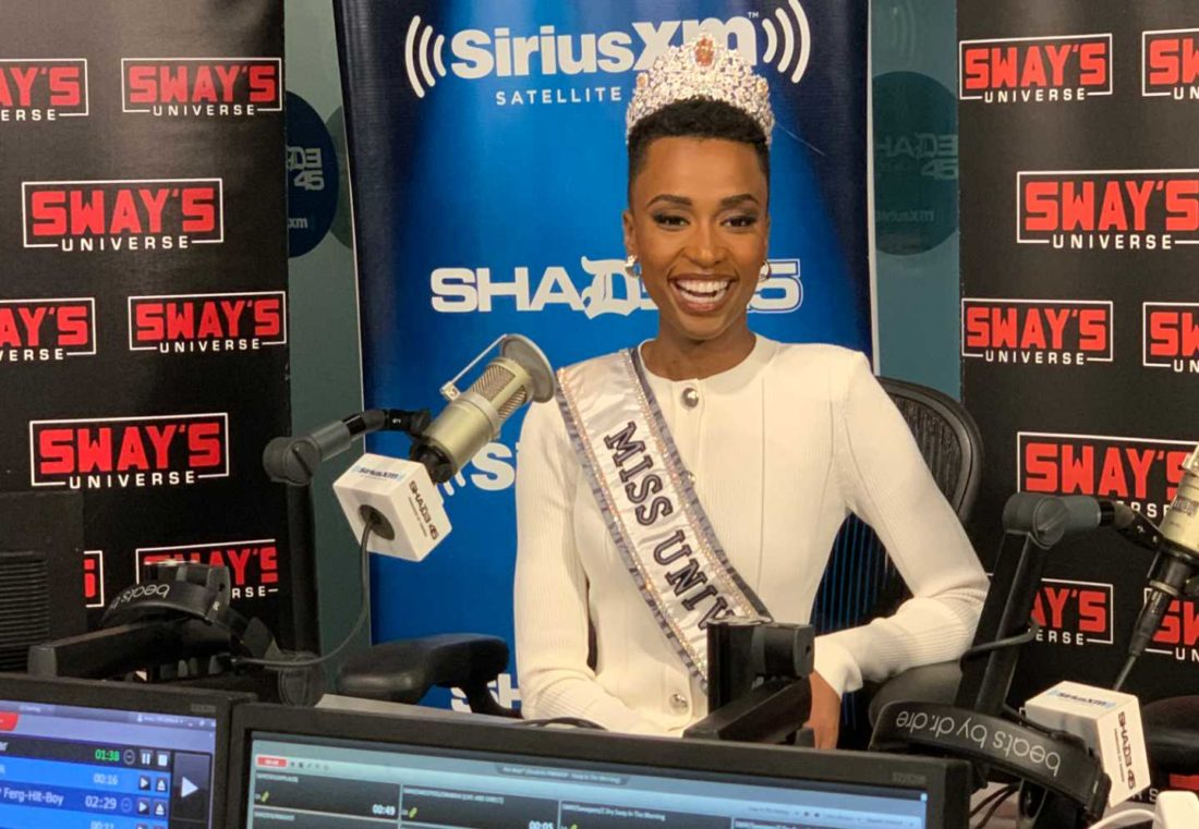 Miss Universe at Sway's Universe, Sirius xm Photo: Miss Universe Organisation